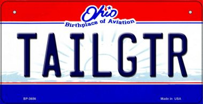 Tailgtr Ohio Wholesale Novelty Metal Bicycle Plate BP-3686