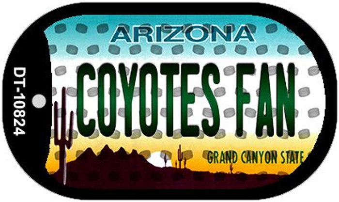 Coyotes Fan Arizona Wholesale Novelty Metal Dog Tag Necklace DT-10824