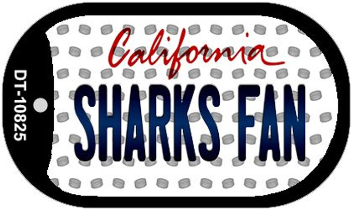 Sharks Fan California Wholesale Novelty Metal Dog Tag Necklace DT-10825