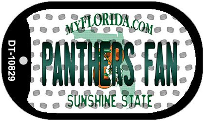 Panthers Fan Florida Wholesale Novelty Metal Dog Tag Necklace DT-10829