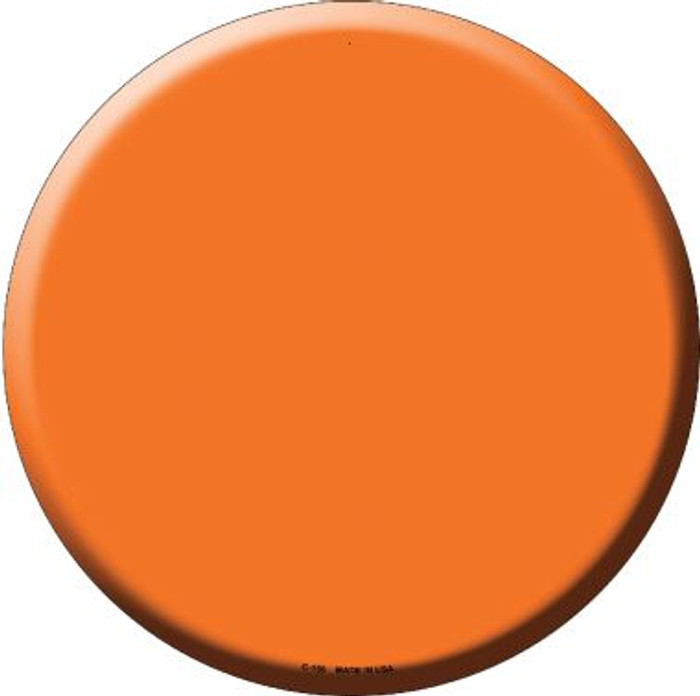 Orange Wholesale Novelty Metal Circular Sign