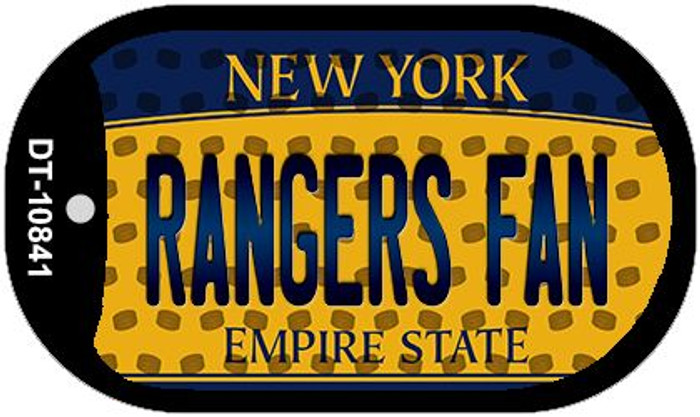 Rangers Fan New York Wholesale Novelty Metal Dog Tag Necklace DT-10841