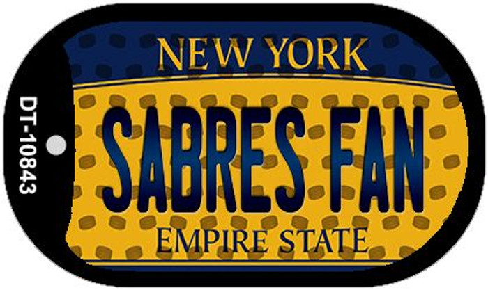 Sabres Fan New York Wholesale Novelty Metal Dog Tag Necklace DT-10843