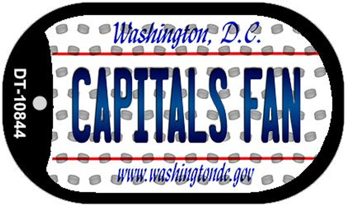 Capitals Fan Washington DC Wholesale Novelty Metal Dog Tag Necklace DT-10844