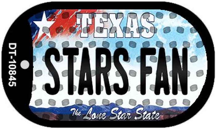 Stars Fan Texas Wholesale Novelty Metal Dog Tag Necklace DT-10845