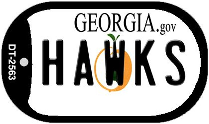 Hawks Georgia Wholesale Novelty Metal Dog Tag Necklace DT-2563