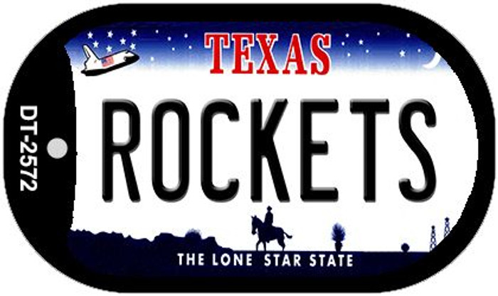 Rockets Texas Wholesale Novelty Metal Dog Tag Necklace DT-2572