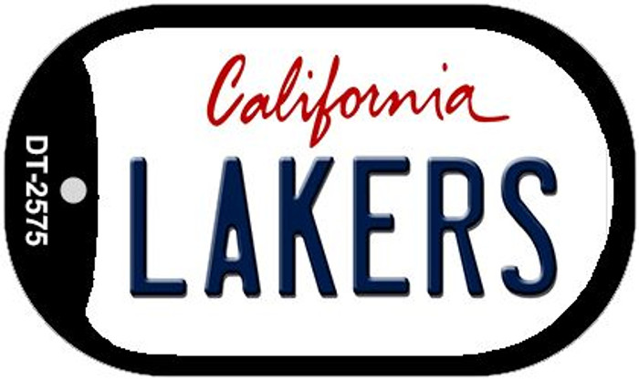 Lakers California Wholesale Novelty Metal Dog Tag Necklace DT-2575