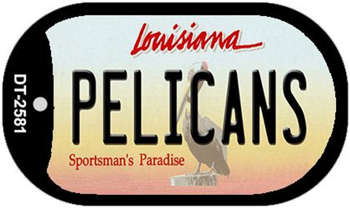 Pelicans Louisiana Wholesale Novelty Metal Dog Tag Necklace DT-2581