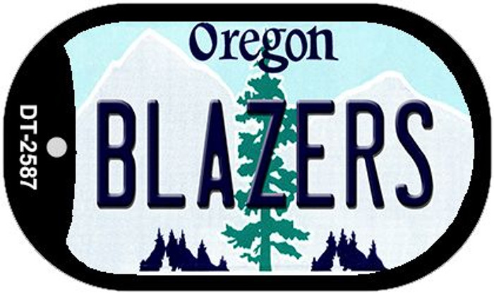 Blazers Oregon Wholesale Novelty Metal Dog Tag Necklace DT-2587