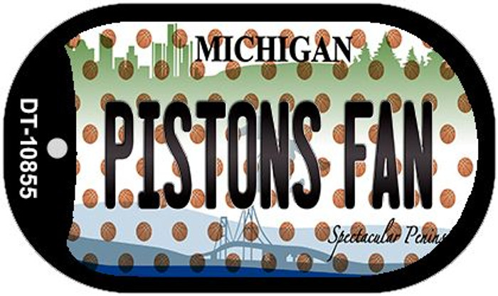 Pistons Fan Michigan Wholesale Novelty Metal Dog Tag Necklace DT-10855