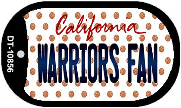 Warriors Fan California Wholesale Novelty Metal Dog Tag Necklace DT-10856