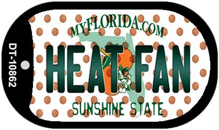 Heat Fan Florida Wholesale Novelty Metal Dog Tag Necklace DT-10862
