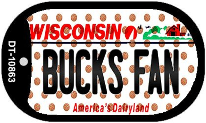 Bucks Fan Wisconsin Wholesale Novelty Metal Dog Tag Necklace DT-10863