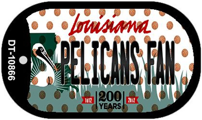 Pelicans Fan Louisiana Wholesale Novelty Metal Dog Tag Necklace DT-10866