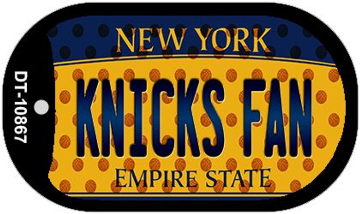 Knicks Fan New York Wholesale Novelty Metal Dog Tag Necklace DT-10867