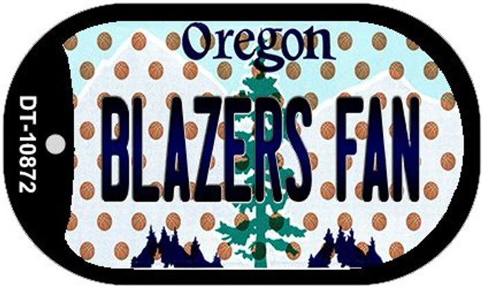 Blazers Fan Oregon Wholesale Novelty Metal Dog Tag Necklace DT-10872