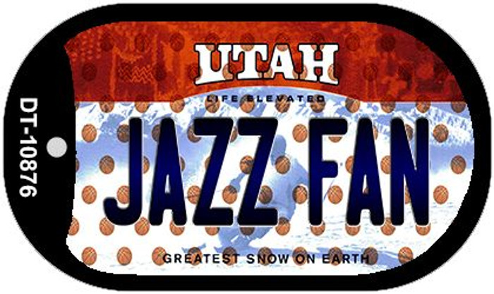 Jazz Fan Utah Wholesale Novelty Metal Dog Tag Necklace DT-10876