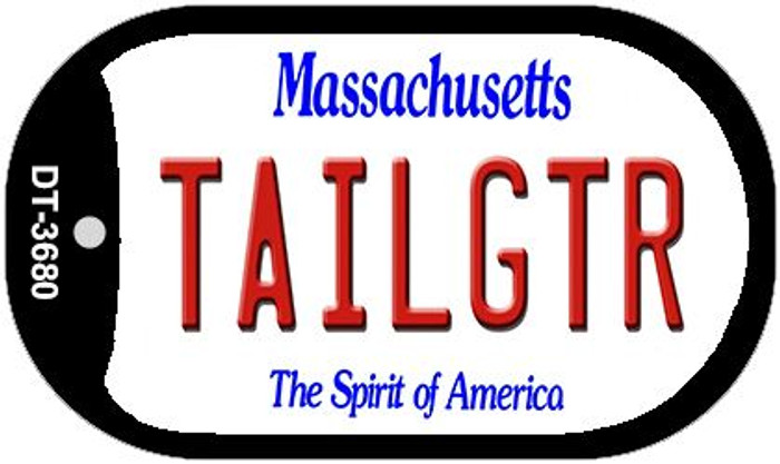 Tailgtr Massachusetts Wholesale Novelty Metal Dog Tag Necklace DT-3680