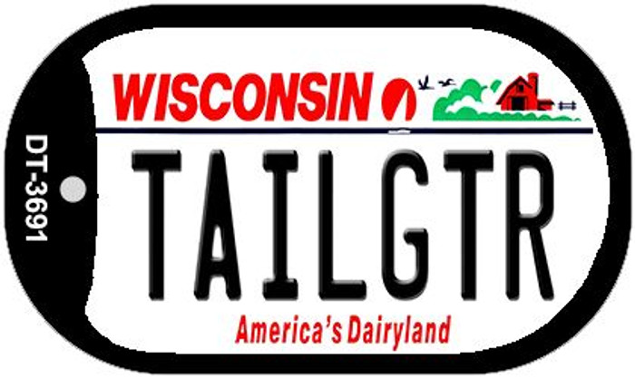 Tailgtr Wisconsin Wholesale Novelty Metal Dog Tag Necklace DT-3691
