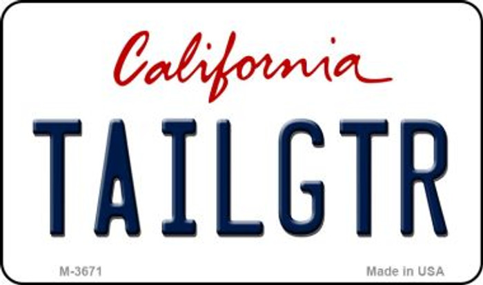 Tailgtr California Wholesale Novelty Metal Magnet M-3671
