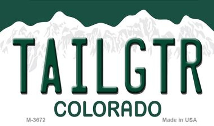 Tailgtr Colorado Wholesale Novelty Metal Magnet M-3672