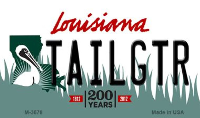 Tailgtr Louisiana Wholesale Novelty Metal Magnet M-3678