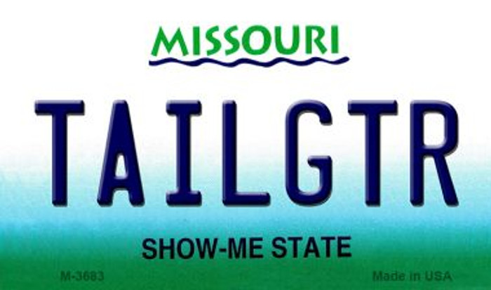 Tailgtr Missouri Wholesale Novelty Metal Magnet M-3683