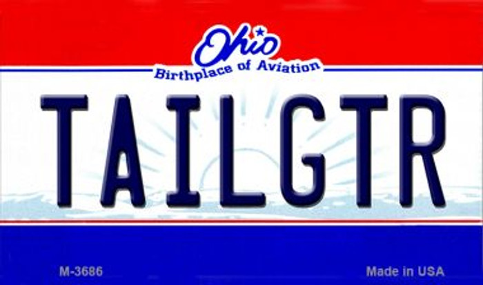 Tailgtr Ohio Wholesale Novelty Metal Magnet M-3686