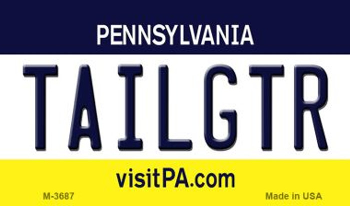 Tailgtr Pennsylvania Wholesale Novelty Metal Magnet M-3687