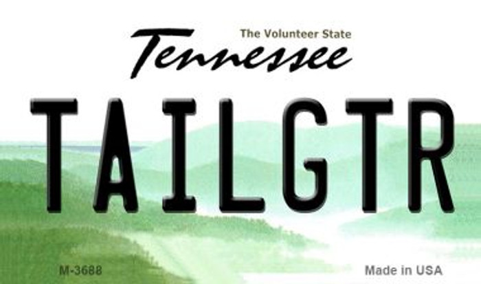 Tailgtr Tennessee Wholesale Novelty Metal Magnet M-3688