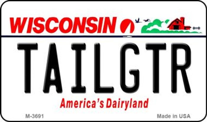 Tailgtr Wisconsin Wholesale Novelty Metal Magnet M-3691