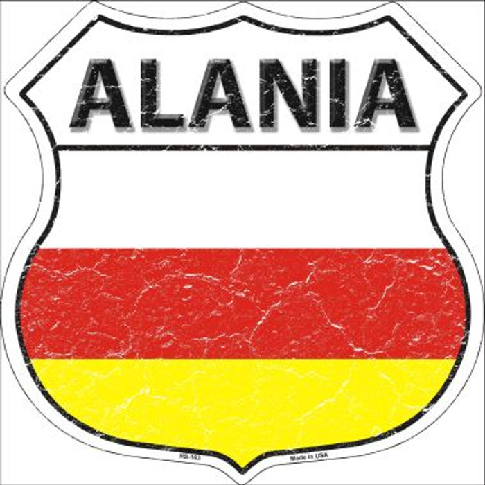 Alania Country Flag Highway Shield Wholesale Metal Sign