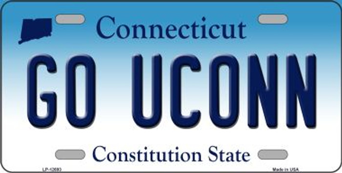 Go UConn Wholesale Novelty Metal License Plate LP-12693