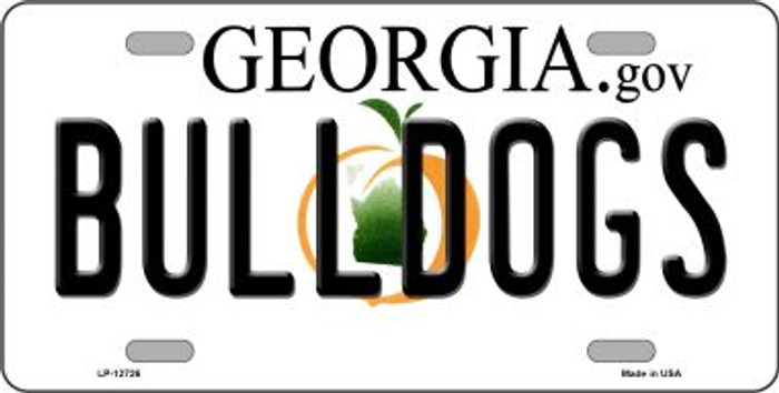 Bulldogs Wholesale Novelty Metal License Plate LP-12726