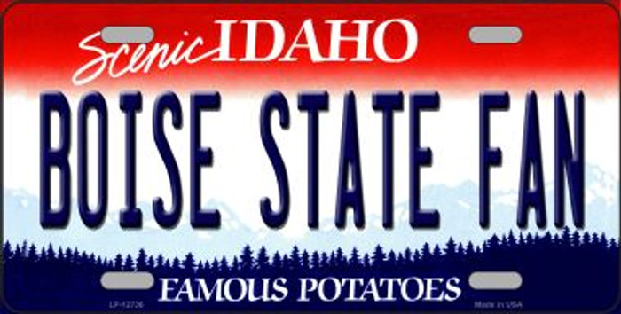 Boise State Fan Wholesale Novelty Metal License Plate LP-12736