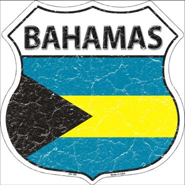 Bahamas Country Flag Highway Shield Wholesale Metal Sign