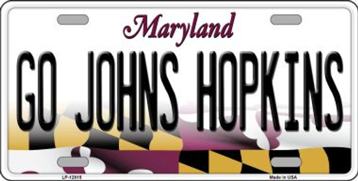 Go Johns Hopkins Wholesale Novelty Metal License Plate LP-12815