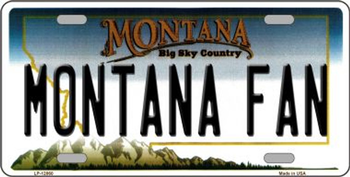 Montana Fan Wholesale Novelty Metal License Plate LP-12860