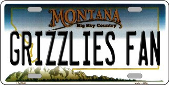 Grizzlies Fan Wholesale Novelty Metal License Plate LP-12863