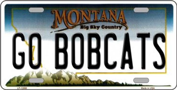 Go Bobcats Wholesale Novelty Metal License Plate LP-12868