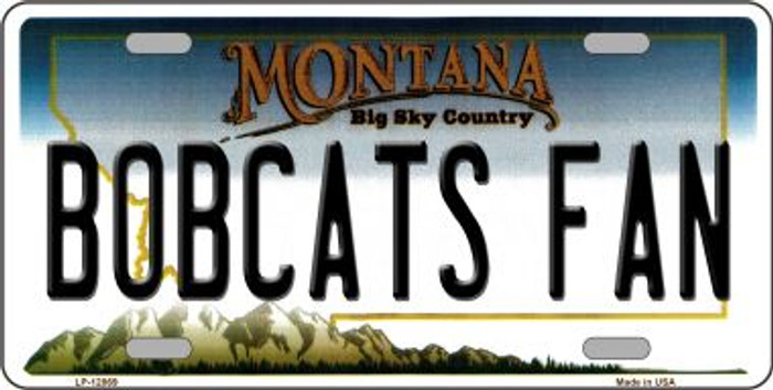 Bobcats Fan Wholesale Novelty Metal License Plate LP-12869