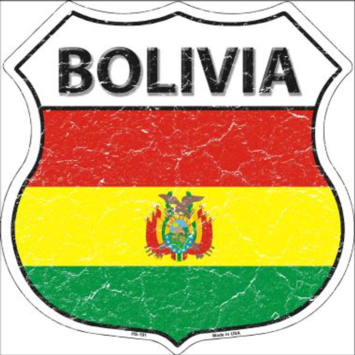 Bolivia Country Flag Highway Shield Wholesale Metal Sign