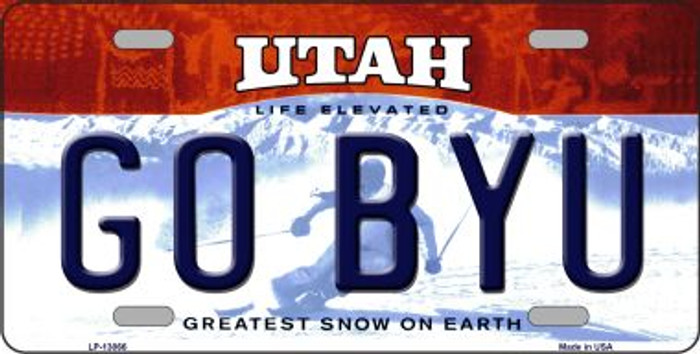 Go BYU Wholesale Novelty Metal License Plate LP-13066