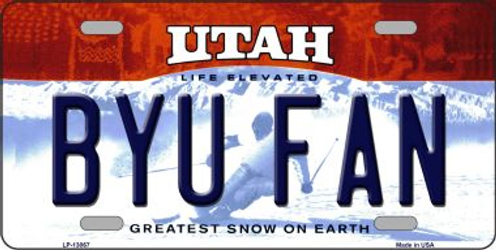 Cougars Fan Wholesale Novelty Metal License Plate LP-13068