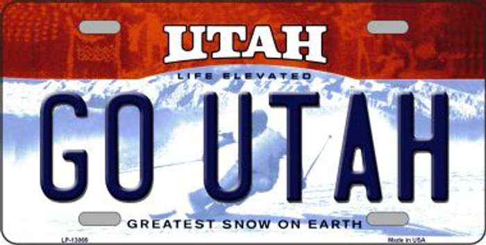Go Utah Wholesale Novelty Metal License Plate LP-13069