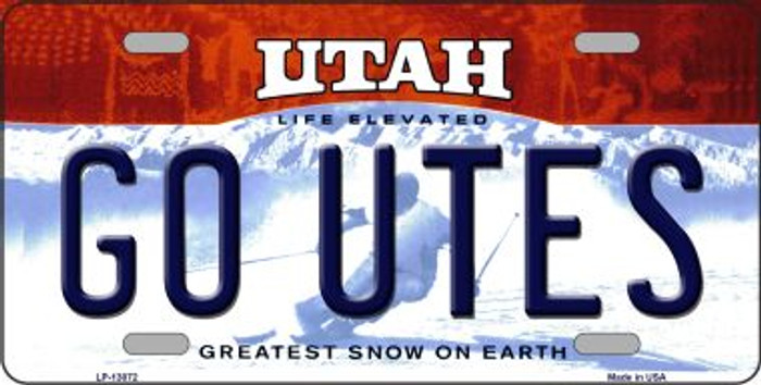 Go Utes Wholesale Novelty Metal License Plate LP-13072