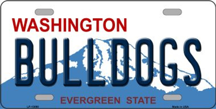 Bulldogs Wholesale Novelty Metal License Plate LP-13090