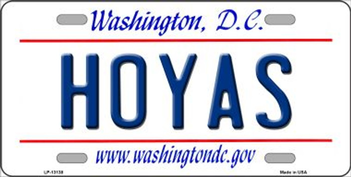 Hoyas Wholesale Novelty Metal License Plate LP-13138