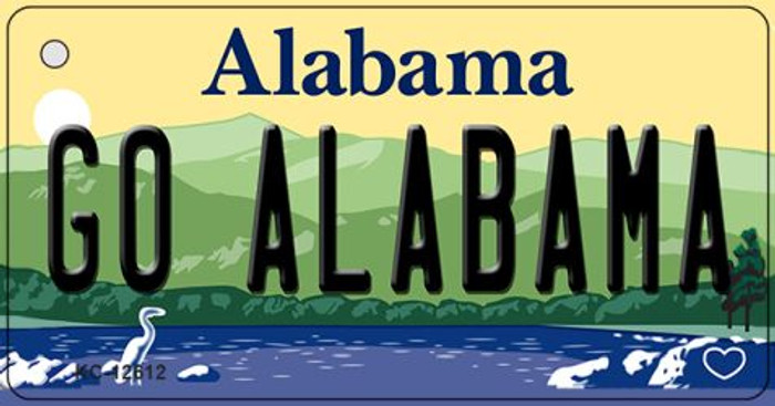 Go Alabama Wholesale Novelty Metal Key Chain KC-12612